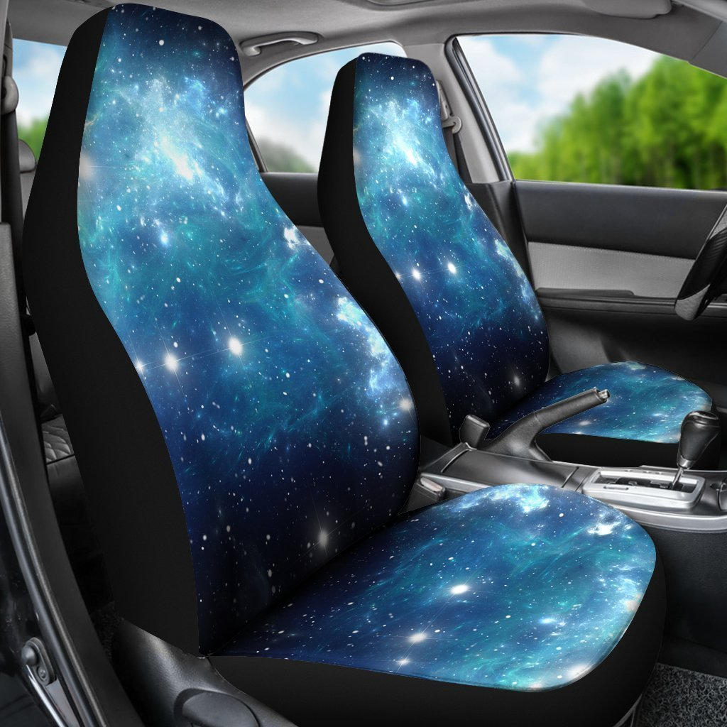Miraculous Blue Light Sparkle Galaxy Space Print Universal Fit Car Seat Covers Ibusinesslaw Wood Chair Design Ideas Ibusinesslaworg
