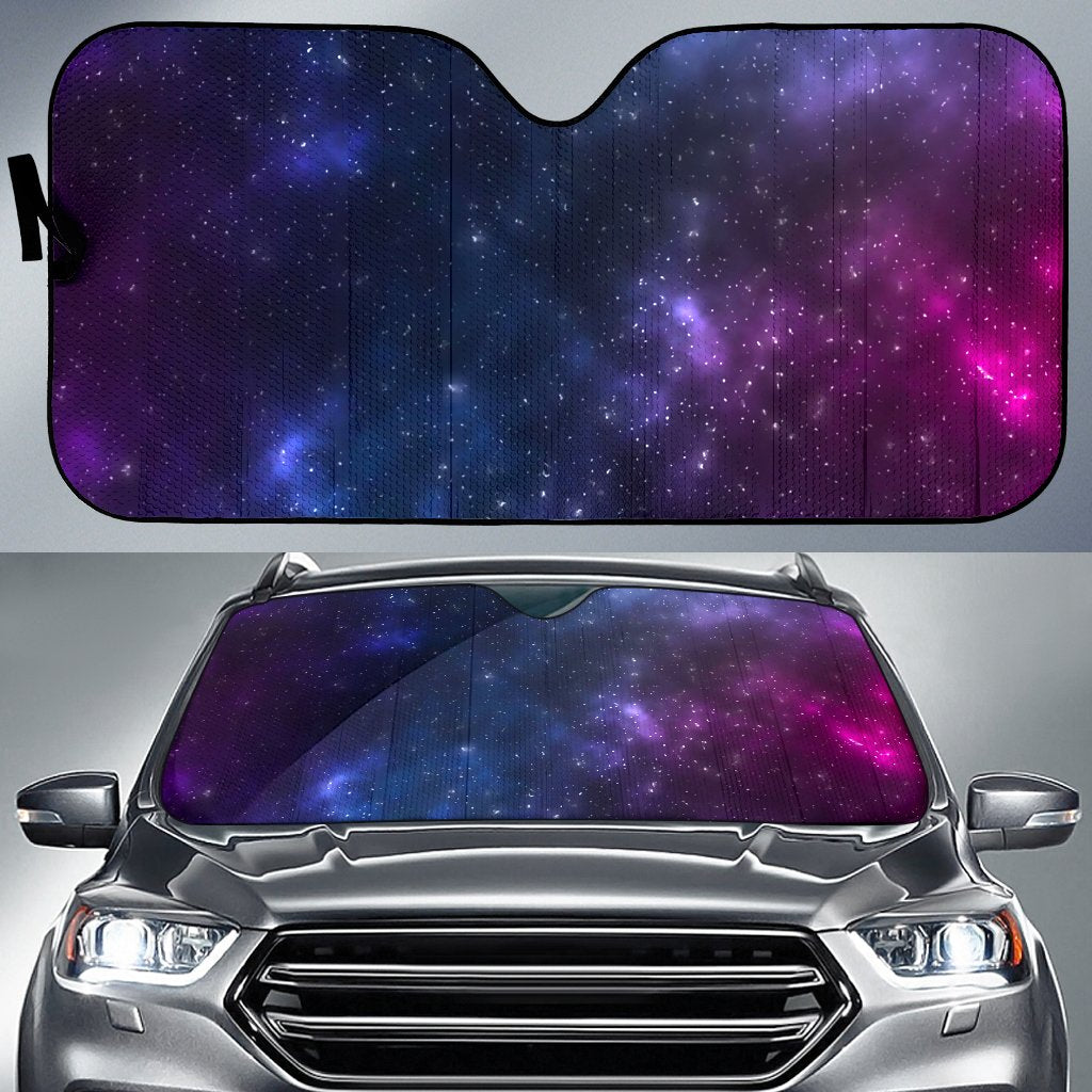 Blue Purple Cosmic Galaxy Space Print Car Sun Shade GearFrost