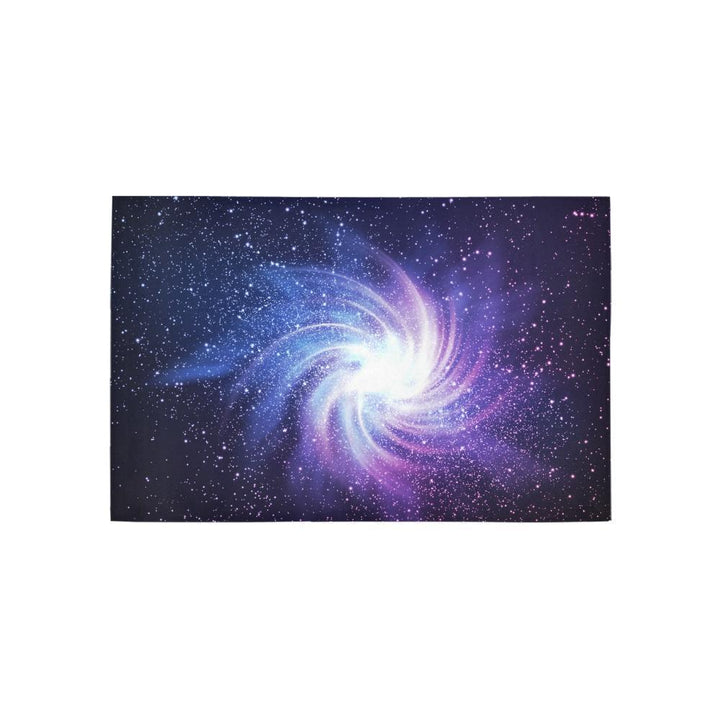 Blue Purple Spiral Galaxy Space Print 3 x 5 Indoor Area Rug GearFrost