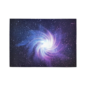 Blue Purple Spiral Galaxy Space Print 5 x 7 Indoor Area Rug GearFrost