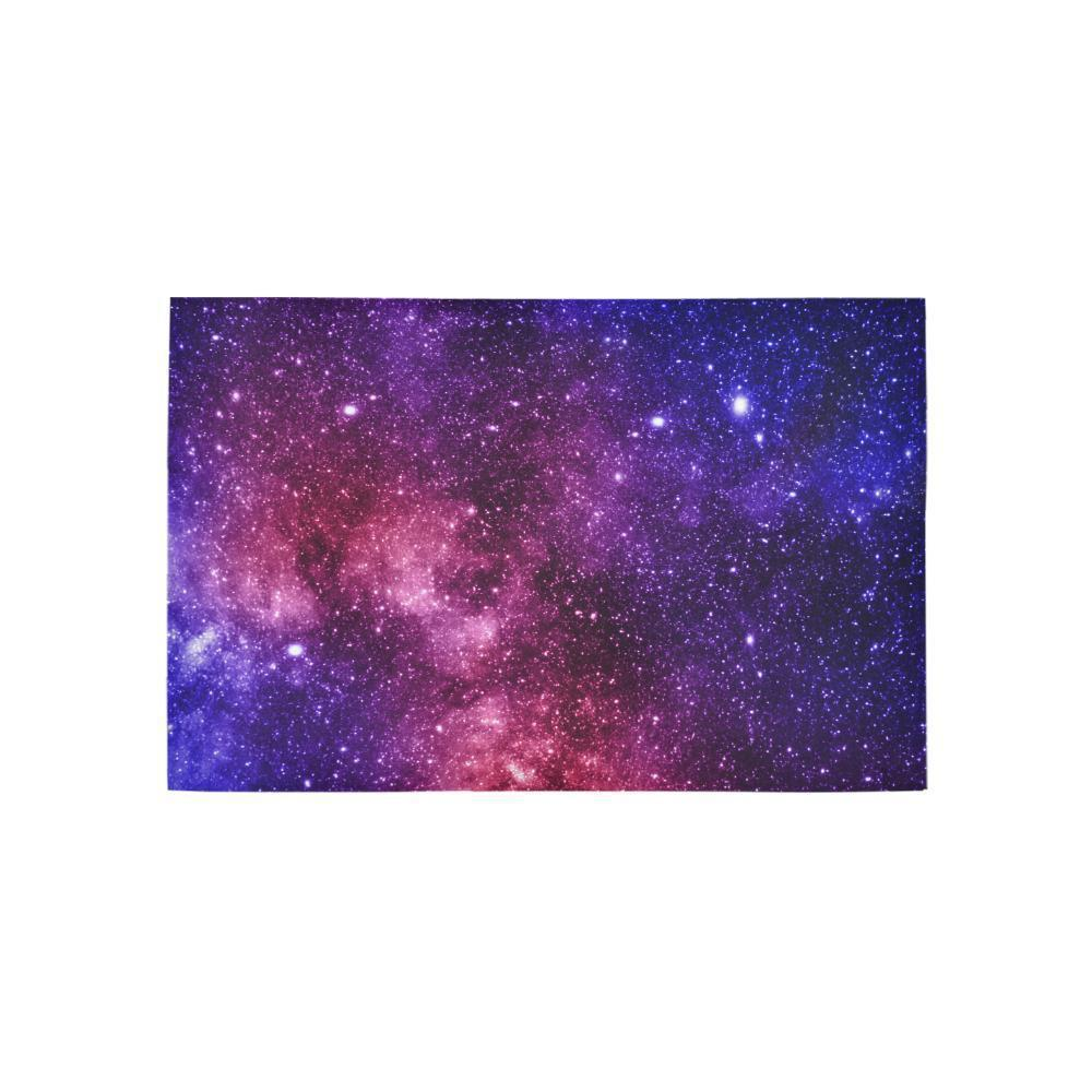 Blue Purple Stardust Galaxy Space Print 3 x 5 Indoor Area Rug GearFrost