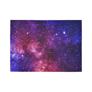 Blue Purple Stardust Galaxy Space Print 5 x 7 Indoor Area Rug GearFrost