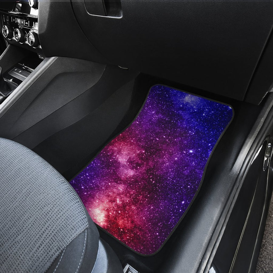 Blue Purple Stardust Galaxy Space Print Front Car Floor Mats GearFrost