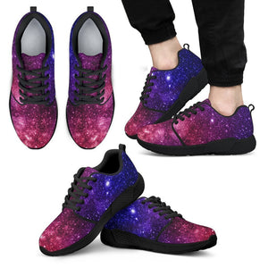 Blue Purple Stardust Galaxy Space Print Men's Athletic Shoes GearFrost