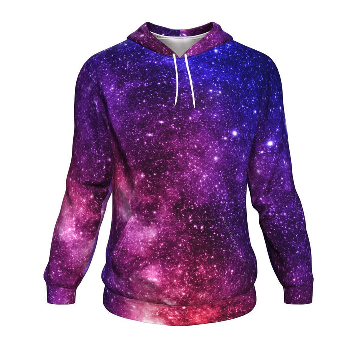 Blue Purple Stardust Galaxy Space Print Unisex Pullover Hoodie GearFrost