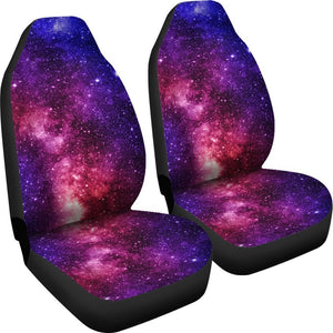 Blue Purple Stardust Galaxy Space Print Universal Fit Car Seat Covers GearFrost