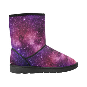 Blue Purple Stardust Galaxy Space Print Women's Snow Boots GearFrost