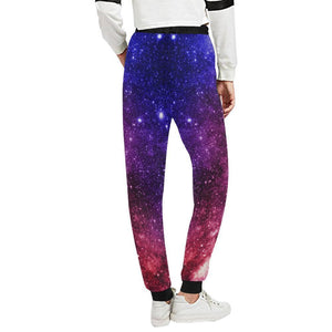 Blue Purple Stardust Galaxy Space Print Women's Sweatpants GearFrost