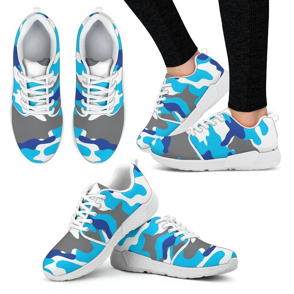 f7faf062d2763 Blue Snow Camouflage Print Women's Athletic Shoes – GearFrost