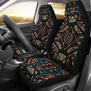 Boho Tribal Aztec Pattern Print Universal Fit Car Seat Covers GearFrost