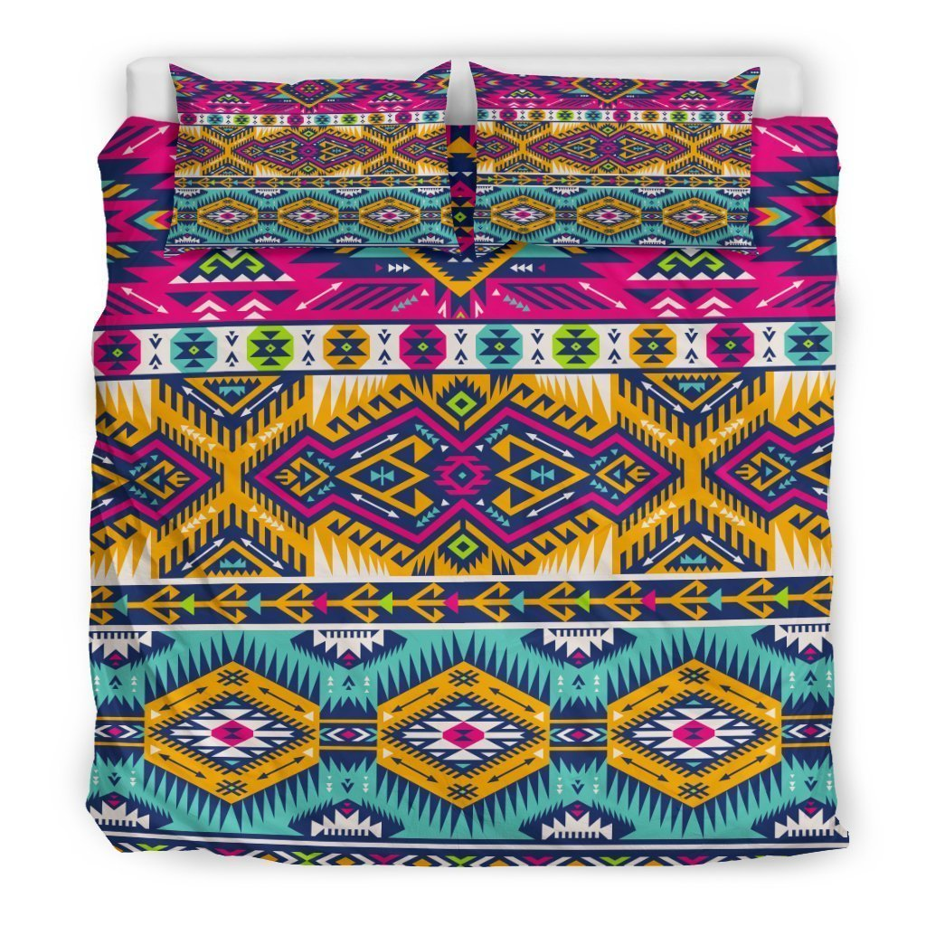 be5ced615 Bright Colors Aztec Pattern Print Duvet Cover Bedding Set – GearFrost