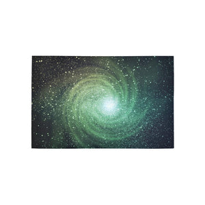 Bright Green Spiral Galaxy Space Print 3 x 5 Indoor Area Rug GearFrost