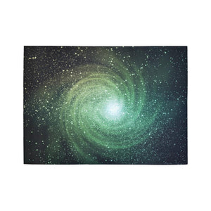 Bright Green Spiral Galaxy Space Print 5 x 7 Indoor Area Rug GearFrost