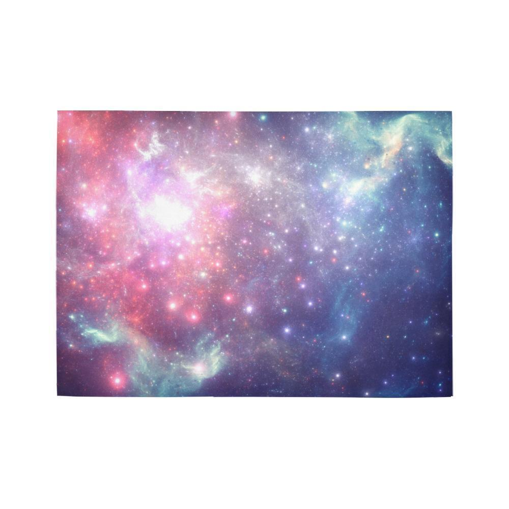 Bright Red Blue Stars Galaxy Space Print 5 x 7 Indoor Area Rug GearFrost