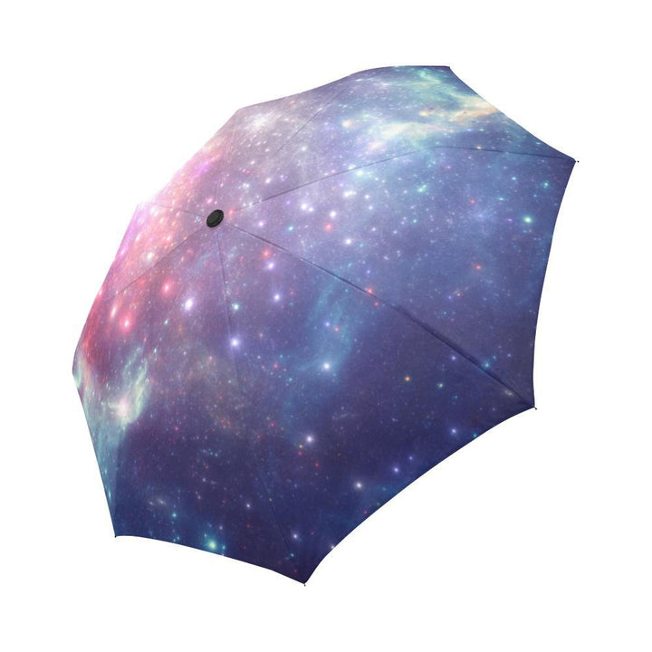 Bright Red Blue Stars Galaxy Space Print Automatic Foldable Umbrella GearFrost