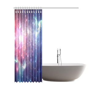 Bright Red Blue Stars Galaxy Space Print Extra Long Shower Curtain GearFrost