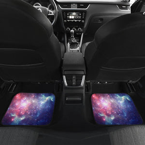 Bright Red Blue Stars Galaxy Space Print Front and Back Car Floor Mats GearFrost