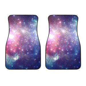Bright Red Blue Stars Galaxy Space Print Front Car Floor Mats GearFrost
