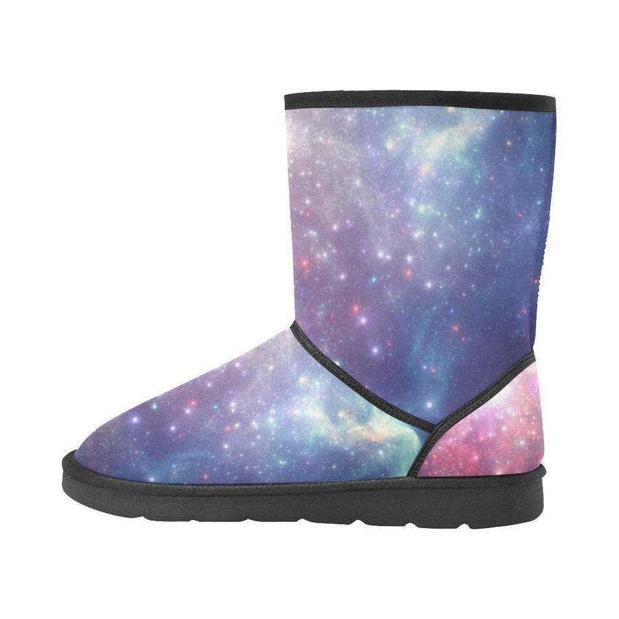 Bright Red Blue Stars Galaxy Space Print Men's Snow Boots GearFrost