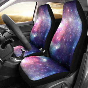 Bright Red Blue Stars Galaxy Space Print Universal Fit Car Seat Covers GearFrost