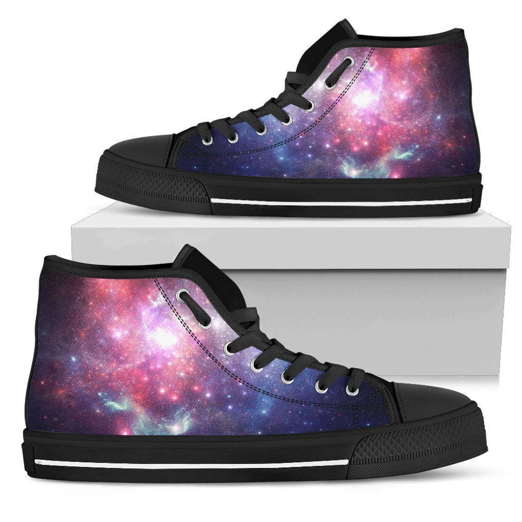 Bright Red Blue Stars Galaxy Space Print Women s High Top Shoes. Product  image 1 ... 6cd53d3dcc