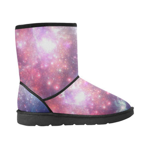 Bright Red Blue Stars Galaxy Space Print Women's Snow Boots GearFrost
