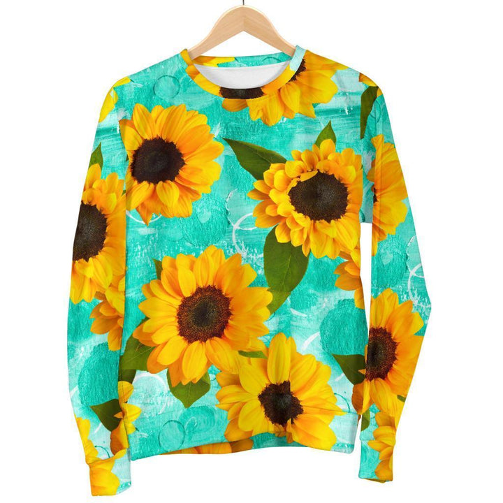 Bright Sunflower Pattern Print Women's Crewneck Sweatshirt GearFrost