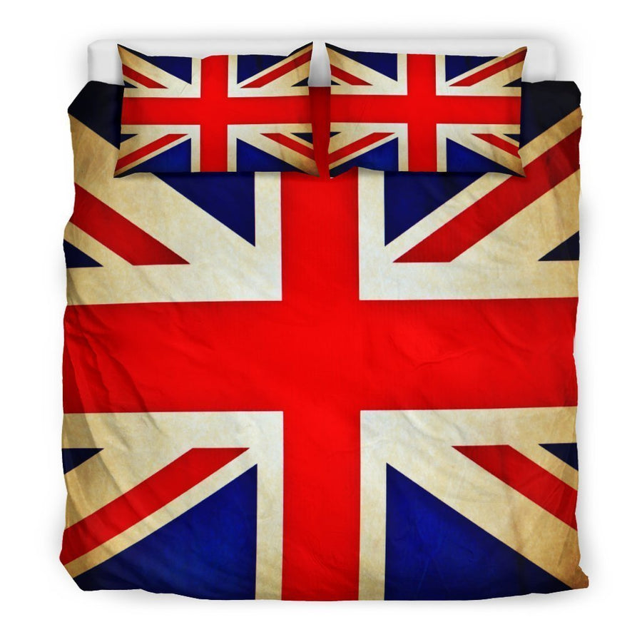 Bright Union Jack British Flag Print Duvet Cover Bedding Set GearFrost