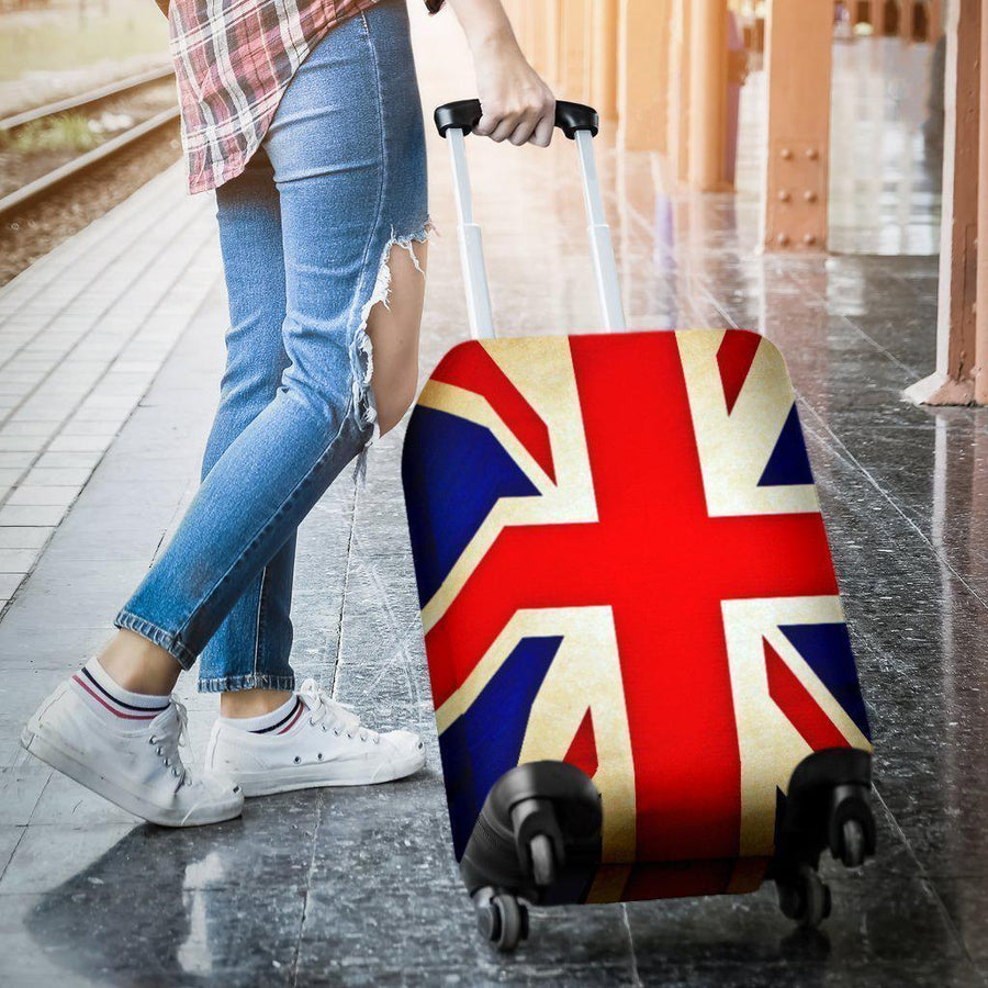 Bright Union Jack British Flag Print Luggage Cover GearFrost