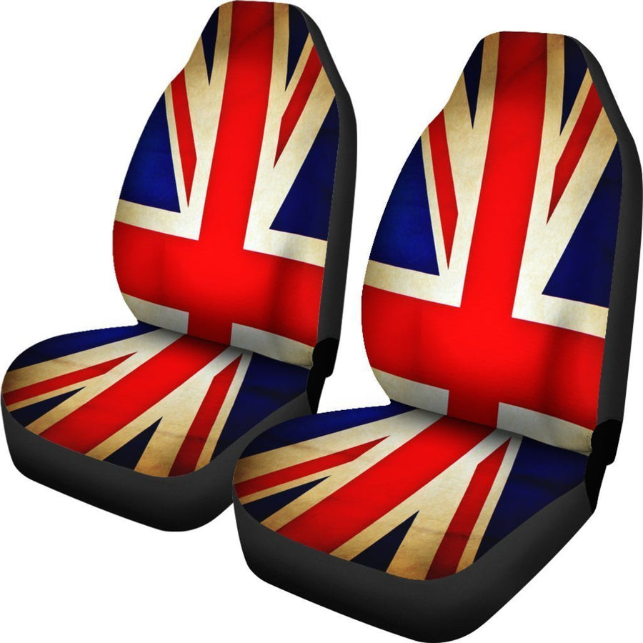 Bright Union Jack British Flag Print Universal Fit Car Seat Covers GearFrost