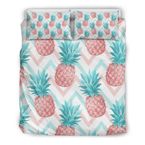 Bright Zig Zag Pineapple Pattern Print Duvet Cover Bedding Set GearFrost