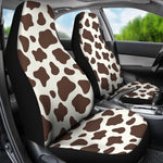 Brown And White Cow Print Universal Fit Car Seat Covers GearFrost
