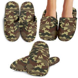 Brown Camouflage Print Slippers GearFrost