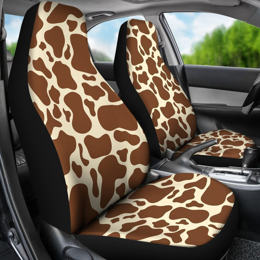 Brown Cow Print Universal Fit Car Seat Covers GearFrost
