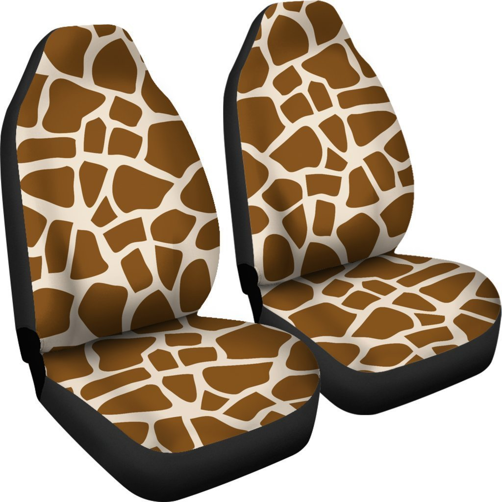 Fabulous Brown Giraffe Pattern Print Universal Fit Car Seat Covers Alphanode Cool Chair Designs And Ideas Alphanodeonline
