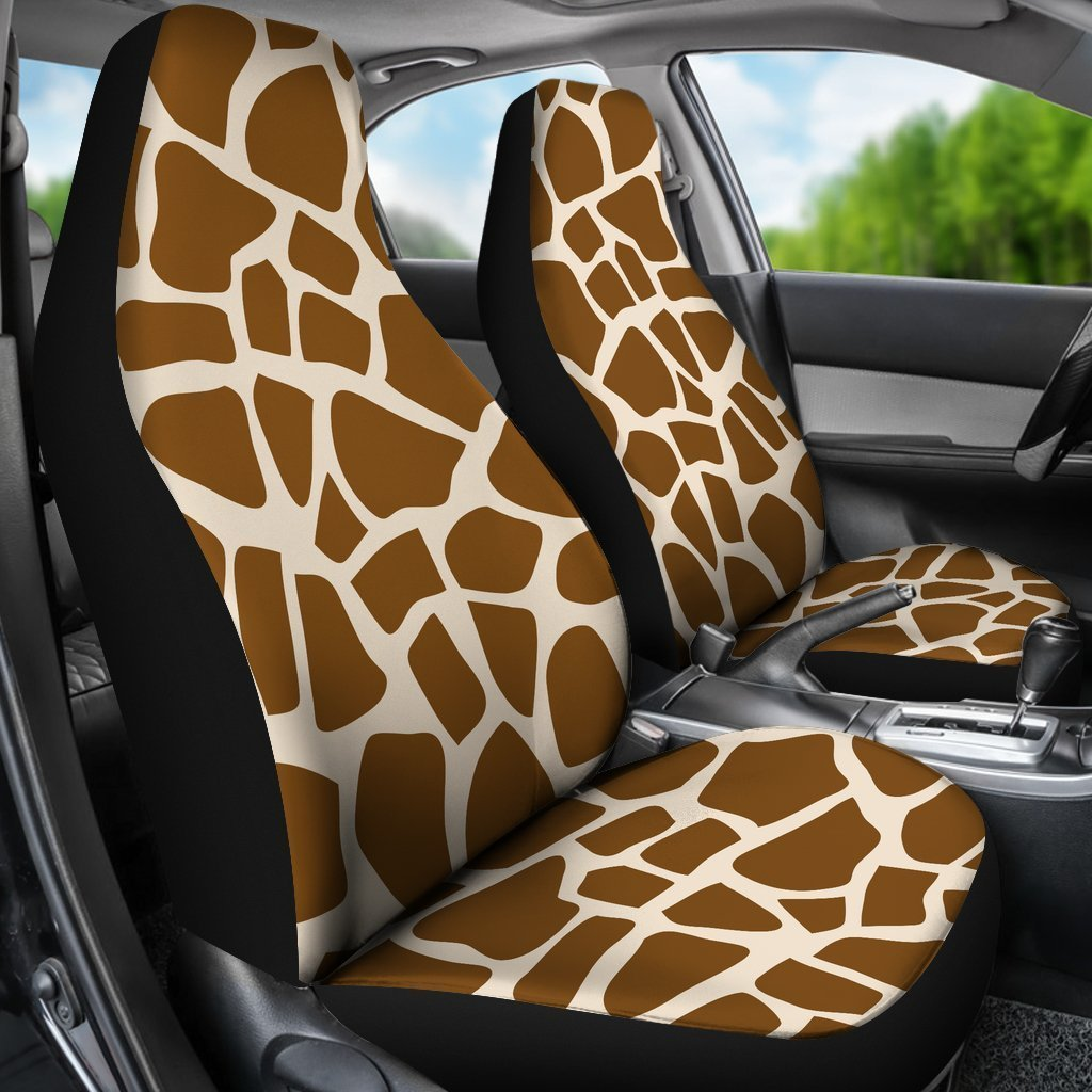 Excellent Brown Giraffe Pattern Print Universal Fit Car Seat Covers Short Links Chair Design For Home Short Linksinfo