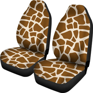 Brown Giraffe Pattern Print Universal Fit Car Seat Covers GearFrost