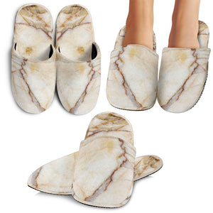 Brown Marble Print Slippers GearFrost