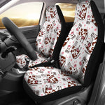 Cartoon Happy Dairy Cow Pattern Print Universal Fit Car Seat Covers GearFrost