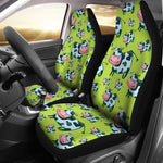 Cartoon Smiley Cow Pattern Print Universal Fit Car Seat Covers GearFrost