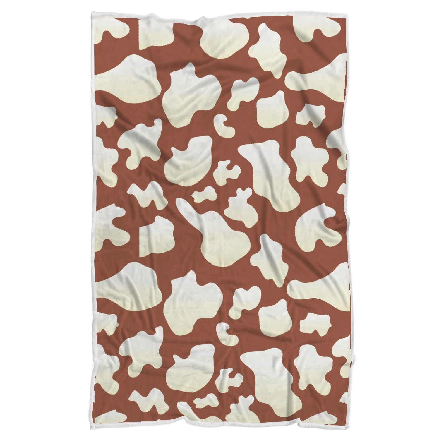 Chocolate And Milk Cow Print Sherpa Blanket GearFrost