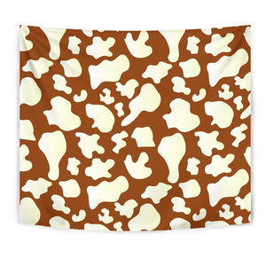Chocolate And Milk Cow Print Wall Tapestry GearFrost