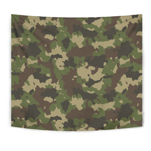 Classic Green Camouflage Print Wall Tapestry GearFrost
