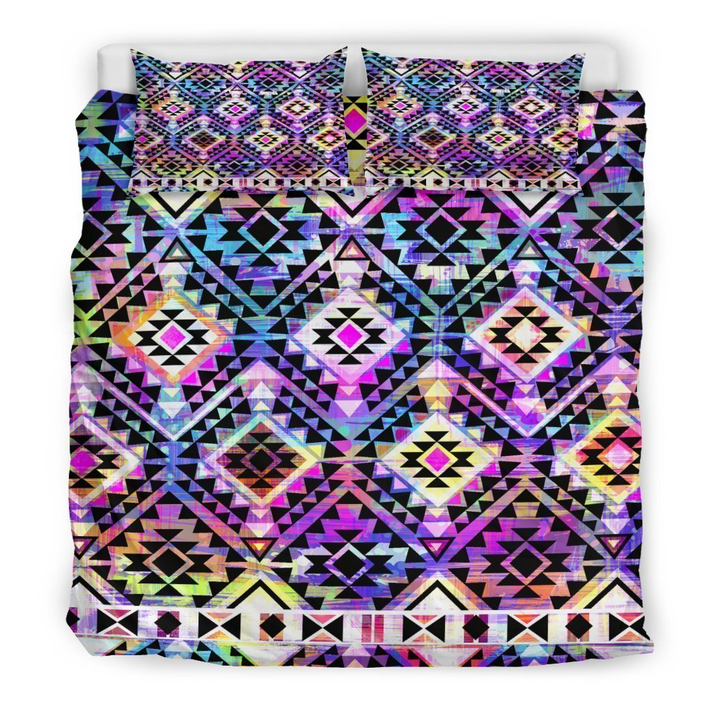 Colorful Aztec Pattern Print Duvet Cover Bedding Set GearFrost