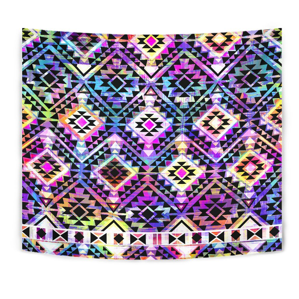 8427acaf3 Colorful Aztec Pattern Print Wall Tapestry – GearFrost