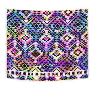Colorful Aztec Pattern Print Wall Tapestry GearFrost