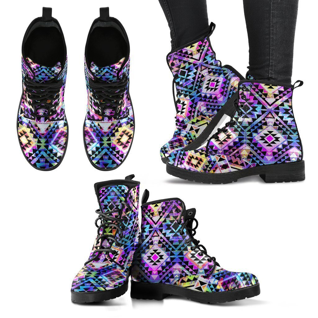 e737fbe9e Product Details. Colorful Aztec Pattern Print Women s Boots