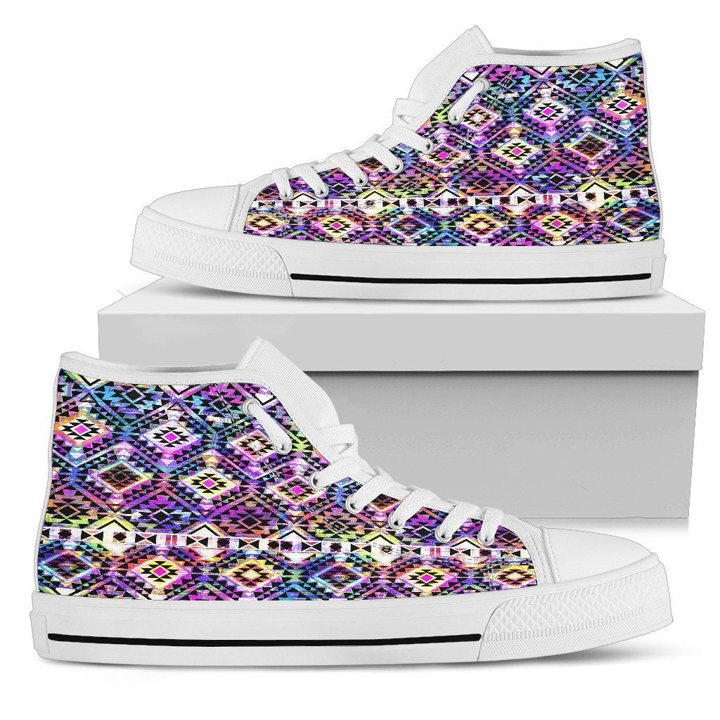 b5cadd76d Colorful Aztec Pattern Print Women s High Top Shoes – GearFrost