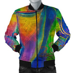 Colorful Buddha Print Men's Bomber Jacket GearFrost