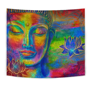 Colorful Buddha Print Wall Tapestry GearFrost